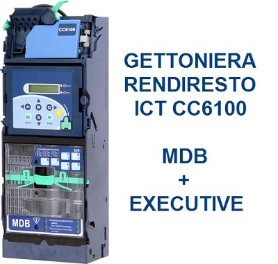 Gettoniera rendiresto CC6100 ICT MDB Executive 6 tubi